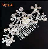 Hair Accessories - Wedding Bridal Rhinestone Pearl Hair Comb