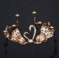 Hair Accessories - Swan with Faux Pearl Tiara