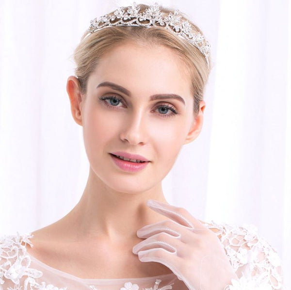 Hair Accessories Bridal Crystal Rhinestones Tiara Crown