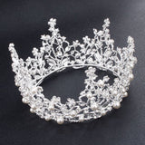 Hair Accessories - Baroque Style Pearl Crystal Tiara