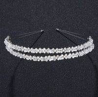 Diamond Double Row Tiaras