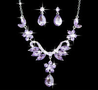 Women's Jewelry Set Rhinestone Necklace Earrings Wedding Party