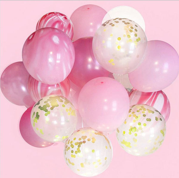 "Deco - 12"" Balloon Confetti Wedding Parties Decoration Agate Set"