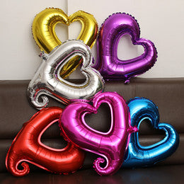"Deco - 18"" Heart Shape Foil Balloon Gold Silver Blue Pink Parties Wedding Decoration"