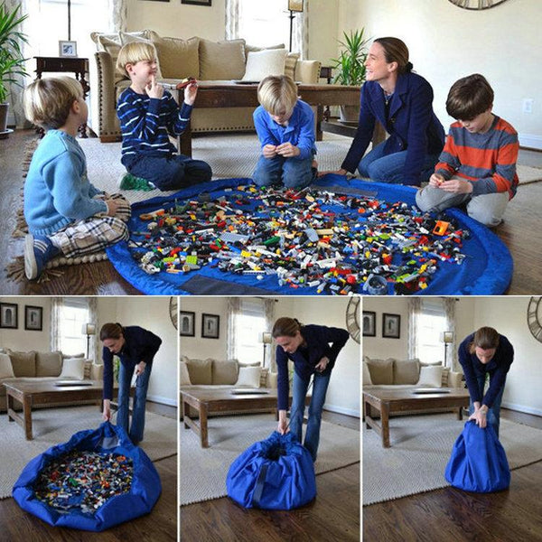 Kids Toy Mat Play Mat Storage Drawstring Bag