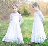 Flower Girl Dress White