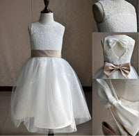 Flower girl laces dress