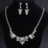 Crystal Necklace Earrings