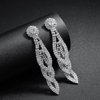 Water Drop Austria Crystal Long Earring