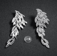 Angle Wing Zinc Alloy With Austria Crystal Earring