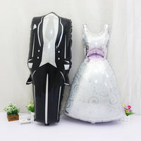 "Deco - 18"" Bride and Groom Dress Balloon Party Decoration"