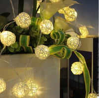 Wedding Deco- Rattan Ball String Led Lights Decoration