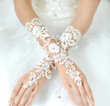 Finger-less Lace Glove