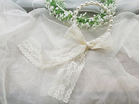 Flower Girls hair accessories- Faux pearl with lace Ribbon handhand