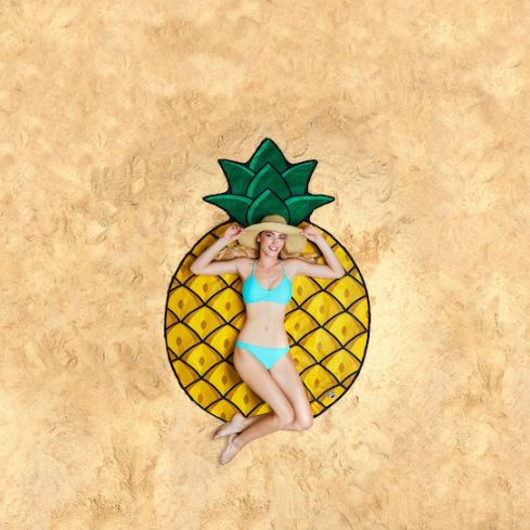 Pineapple Beach Blanket Picnic Blanket