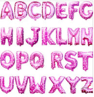 Pink Letter Foil Balloons - Great for Birthday, Party, & Wedding Decor