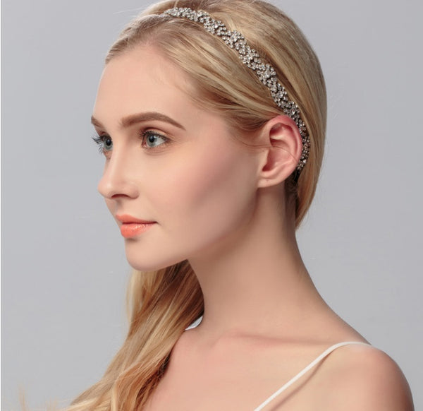 Hair Accessories - Rhinestones Rubber Hairband Wedding