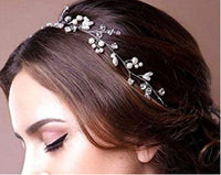 Wedding Hair Accessories - Princess Style Rhinestone Faux Pearl Hair Chains