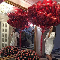 "Deco - 10"" 18"" Foil Heart Shape Balloon Wedding Birthday Propose Parties"