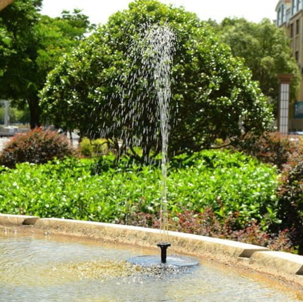 Solar Powered Water Fountain Pump Floating Drifting Panel Pool Pond For Bird Bath Garden