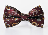 Groomsmen Bow Tie Paisley Pattern Team Groom