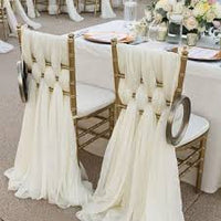 Deco - Chair Sash Bow Satin Sheer Organza chair Banquet Wedding party event