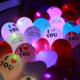 "Deco - 12"" Light Up Balloon with I Love You Printed"
