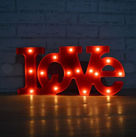 Red 'LOVE' Letter Light - Great for Night Lamp Light, Home & Wedding Decorations