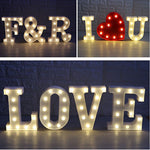 Deco- Led Letter Number Light Wedding Propose Decoration