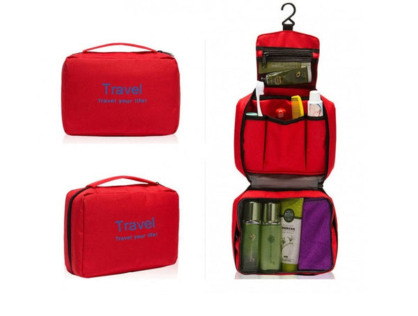 Travel Cosmetic/Toiletry/Wash Storage Bag with Hanger