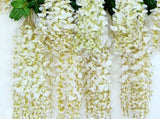 Deco - 5 Strands Silk Wisteria Flower hanging Wedding Party