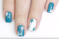 3 EASY Holiday Nail Designs With Little Ondine Twin Sets By JauntyJuli