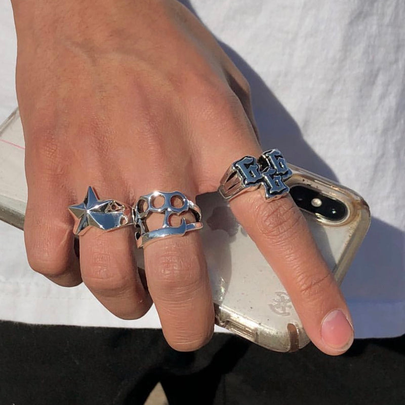HJ BRASS KNUCKLES RING