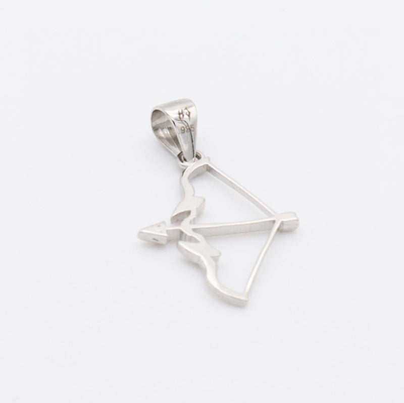 HJ SOLID SILVER CUPID'S BOW PENDANT