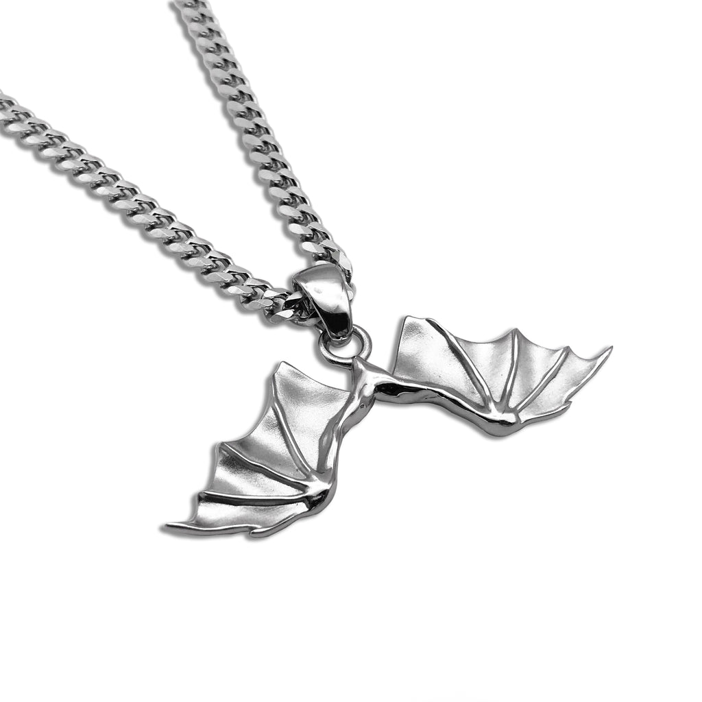 HJ SILVER DEATH WING PENDANT