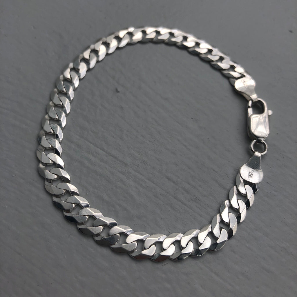 HJ SILVER 6mm SUPER FLAT CURB BRACELET