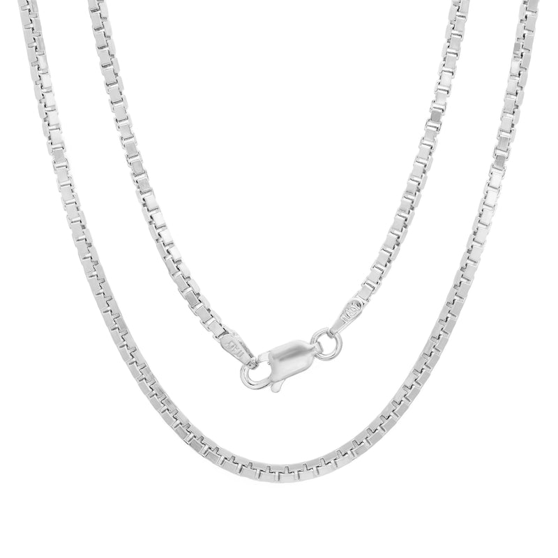 Sterling Silver 1.5mm Box Chain 20""
