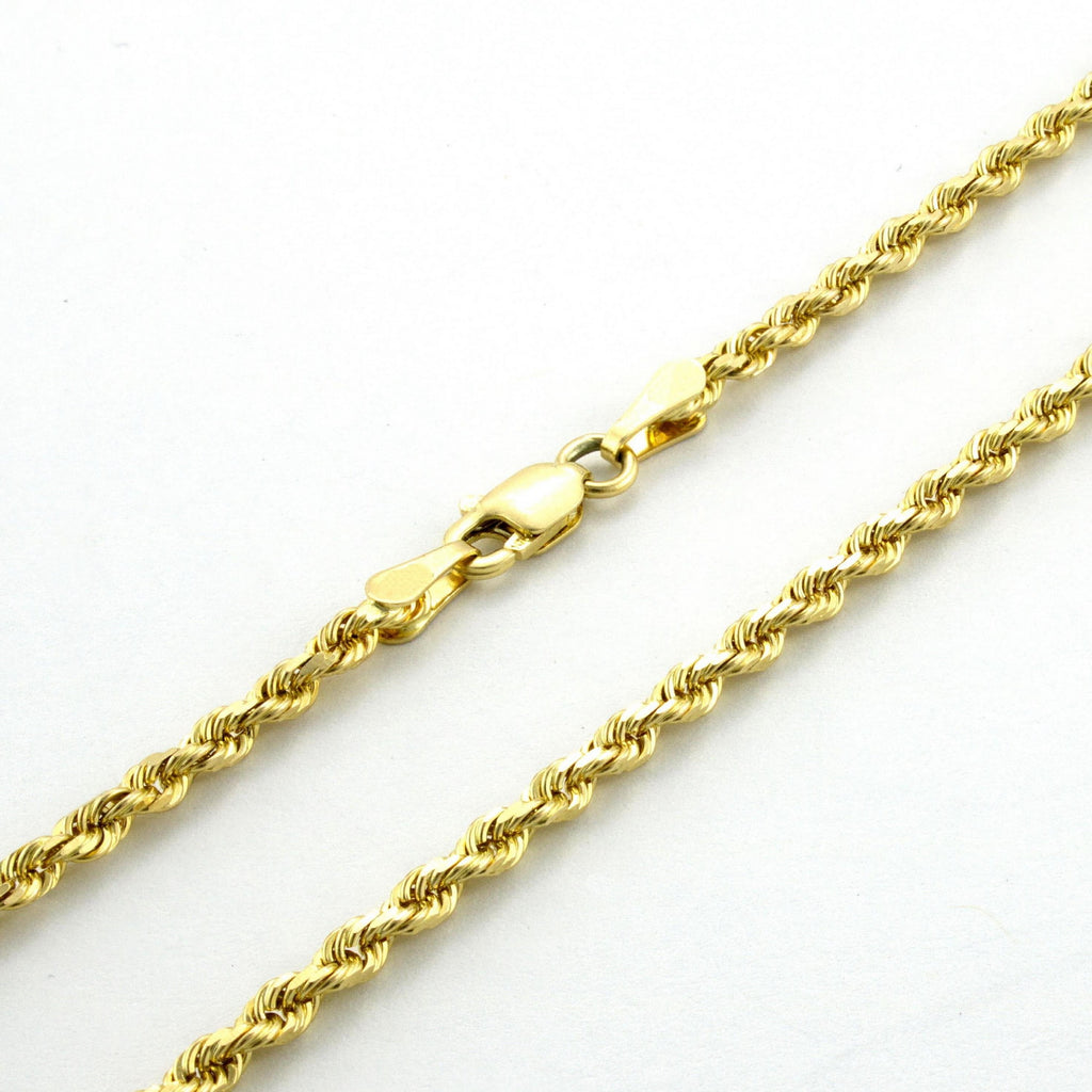 "20"" 18k Gold Rope Chain"