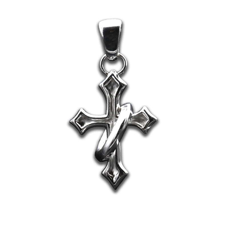 Halo Cross Pendant + Chain