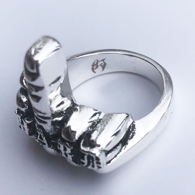 "HJ ""FUCK YOU"" SILVER RING"