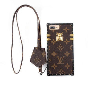 LV Monogram Brown Trunk Case - Tomoris