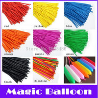 100P/Pack Tying Twisting Balloon Long Shape Balloon Latex Balloons Assorted Colors Wedding Birthday Christmas Holiday Decoration