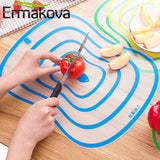 4 Pcs/Lot Flexible Kitchen Plastic Chopping Block Cutting Board