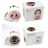 Piggy and Doggy Nose Mug