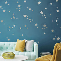 Silver Stars Decoration Wall Stickers Art Wall Bedroom Kids Rooms Wall Decal