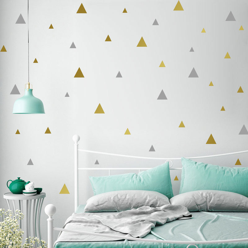 Multi Size Triangular Vinyl Removable Wall Stickers Decoration