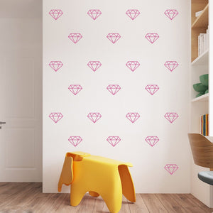 45Pcs Geometric Diamond Decoration Vinyl Decals Decor Mural