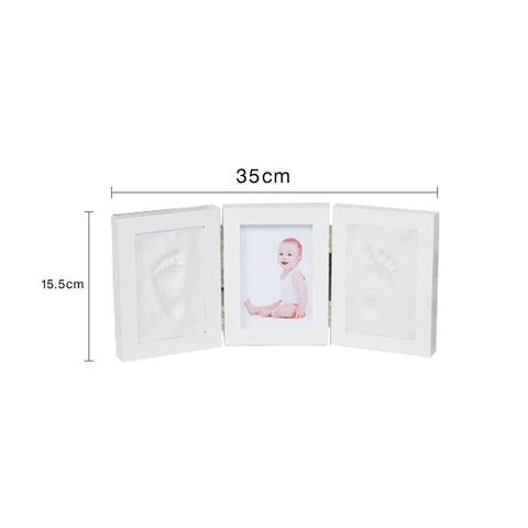Image of 3D Newborns Molds Baby Handprint Footprint Photo Frame with Soft Clay Inkpad PJ3350W