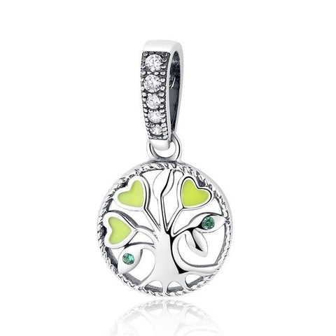 925 Sterling Silver Berloque Family Tree of Life Shoe Charms Pendant Deijes Beads fit Charm Bracelet Original Jewelry Making GXC116