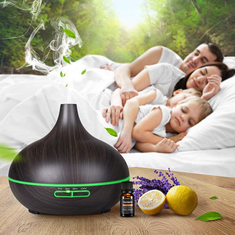 Image of Aroma Essential Oil Diffuser with Wood Grain 300ml joeypatch
